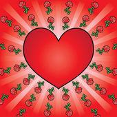Heart background — Stockvektor