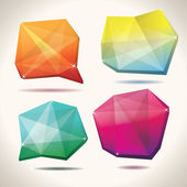 Formas de cristal — Vector de stock