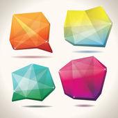 Kristal şekiller — Stok Vektör