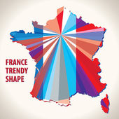 France trendy shape — Stock Vector