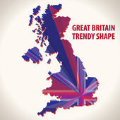 Great Britain trendy shape — Stock Vector