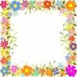 Stock Vector: Floral Border