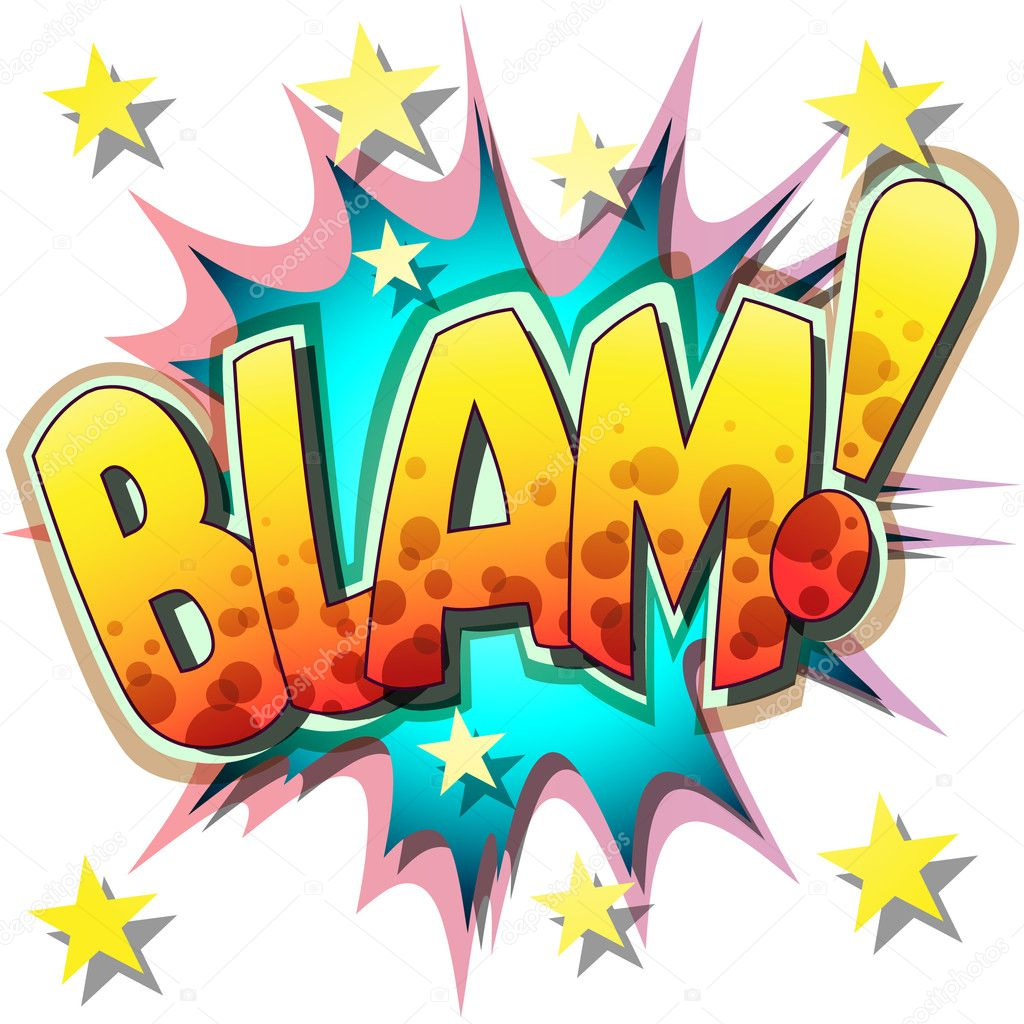 A Blam Comic Book Illustration   Stock Vector #6751569