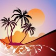 paisaje tropical — Vector de stock  #6931880