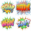 Comic Book Illustration - Stock Vector