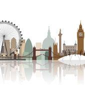 Londýnské panoráma — Stock vektor