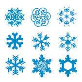 Snow flakes — Stock Vector