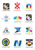 Company_logos_print_design — Stock Vector
