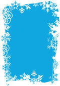 Snowflakes_grunge_frame — Stock Vector