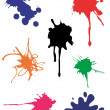 Vector spots splash - Stock Vector