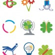 Ecology_creativity_icons — Stock Vector