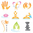 Icons_spa_massage — Stock Vector