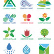 Royalty-Free Stock Vector Image: Logos_symbols_nature_landscape
