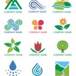 Stock Vector: Logos_symbols_nature_landscape