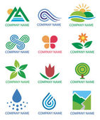Logos_symbols_nature_landscape — Stock Vector