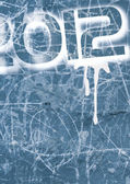 Blue_ grunge_wall_2012 — Foto Stock