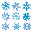 Stock Vector: Snow_flakes