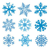 Snow_flakes — Stock Vector