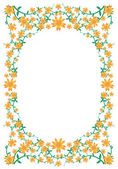 Floral flower frame — Stock Vector