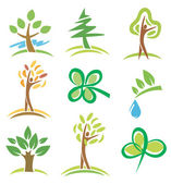 Icons_trees_plants — Stock Vector