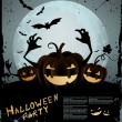 Halloween illustration — Vector de stock #6747402