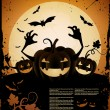 Halloween illustration — Vector de stock #6747409
