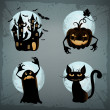 Halloween characters set - Stockvectorbeeld