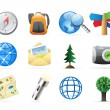 Stock Vector: Icons for backpacking