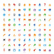 100 perfect icons - Stock Vector