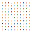 100 perfect icons — Stock Vector