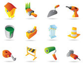 Icons for construction industry — Stock Vector