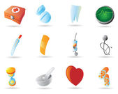 Icons for medicine — Vettoriale Stock