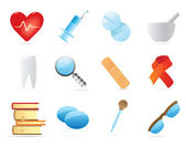 Icons for medicine — Stockvector