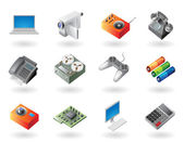 Isometric-style icons for electronics — Stock Vector