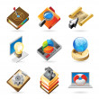 Royalty-Free Stock Vector Image: Icon concepts for work