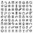 Stencil icons — Stock Vector