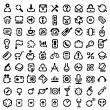 stencil icone — Vettoriale Stock