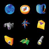 Iconos para viajes — Vector de stock