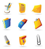 Icons for stationery — Stock Vector
