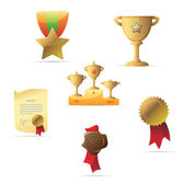 Icons for awards — Stock Vector