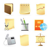 Icons for office — Vettoriale Stock