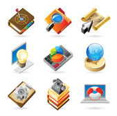 Icon concepts for work — Stock Vector