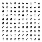 100 perfect icons — Stok Vektör