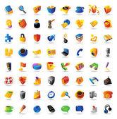 Conjunto de iconos de vector realista — Vector de stock
