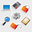 Sticker icon set for interface — Stock Vector