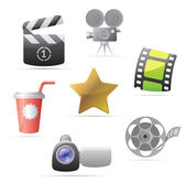 Icons for movies — Stock Vector