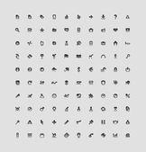 100 botões de interface — Vetorial Stock