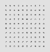100 interface knoppen — Stockvector