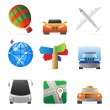 Icons for transportation — Stock Vector #7374685