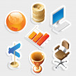 Sticker icon set for business and money — Stockvectorbeeld
